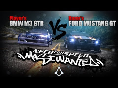 Need for Speed: Most Wanted (2005) | Razor's FORD MUSTANG GT vs. BMW M3 GTR