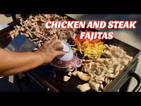 ♨️ How To Make Chicken Fajitas And Steak Fajitas On A Griddle