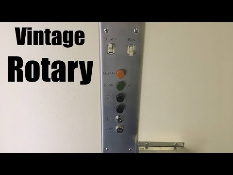 Vintage 1960 Rotary Hydraulic Elevator @ Park Sheridan Medical Bldg - Highland Park, IL