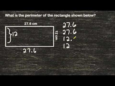Perimeter Of A Rectangle And Decimals Values