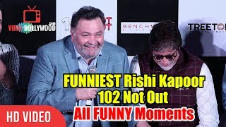 FUNNIEST Rishi Kapoor With Amitabh Bachchan | 102 Not Out Song Launch Funny Moments