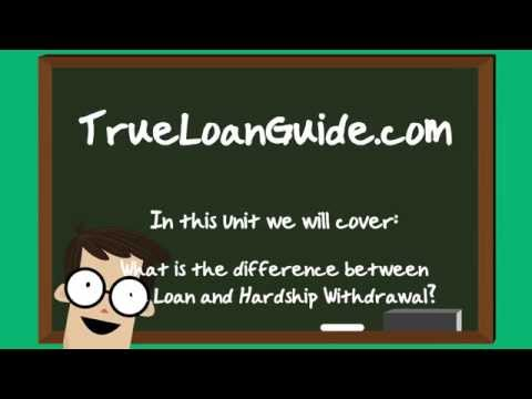 What is the Difference Between 401k Loan and Hardship Withdrawal?