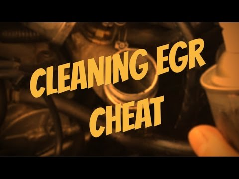 How To Clean Diesel EGR VALVE .nissan Xtrail
