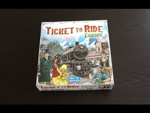 Unboxing: Ticket to Ride Europe Board Game