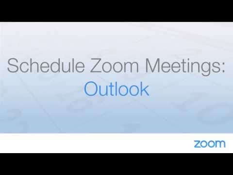 Schedule Zoom Meetings With Outlook
