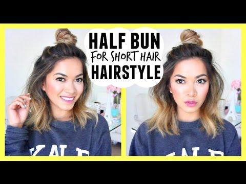 Half Bun for Short Hair Hairstyle! Style Spotting - ThatsHeart