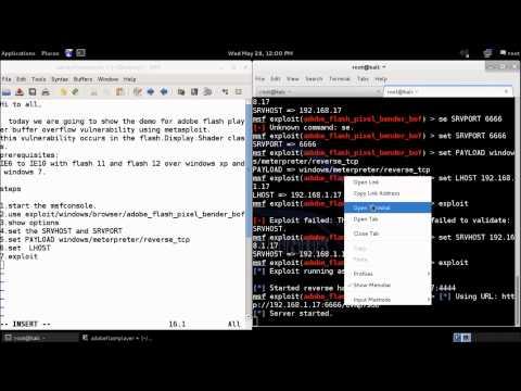 Exploiting Adobe flash player bufferoverflow vulnerability