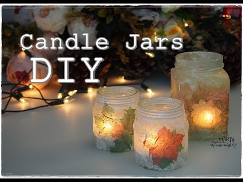 Christmas in a Jar - Decoupage Candle Holder DIY