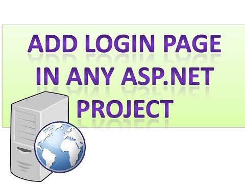 How to set Login page as startup page in any project using  asp net c#