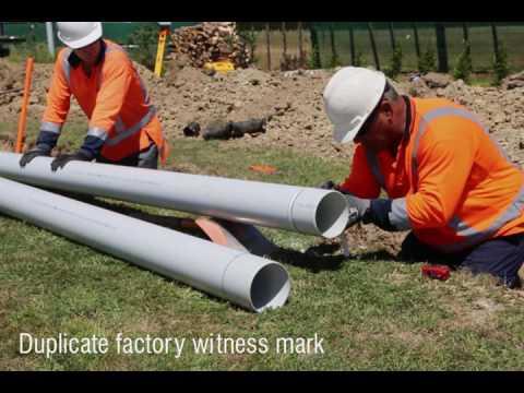 Installation of water main pipelines Iplex Movie #3