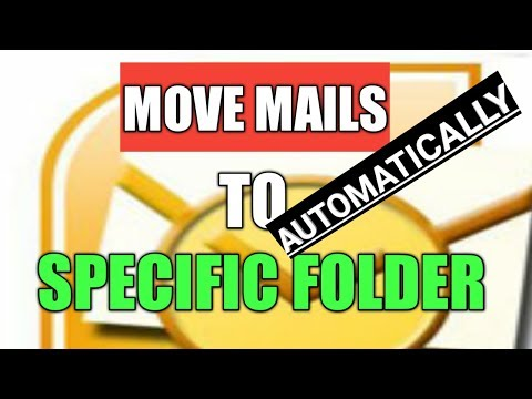 How to move emails to folder automatically in outlook by Cool Trick