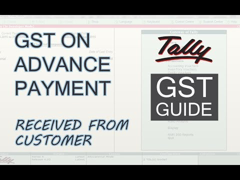 GST On Advance Payment Received From Customer in Tally | GST in Tally ERP 9