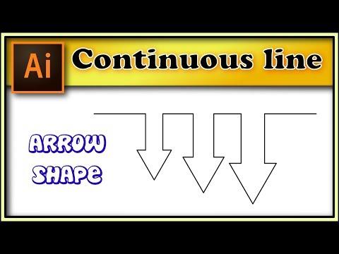 Continuous Line arrow shape - Illustrator tutorial.