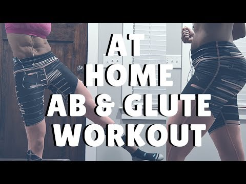 At Home: AB & GLUTE Workout ((BODYWEIGHT ONLY))