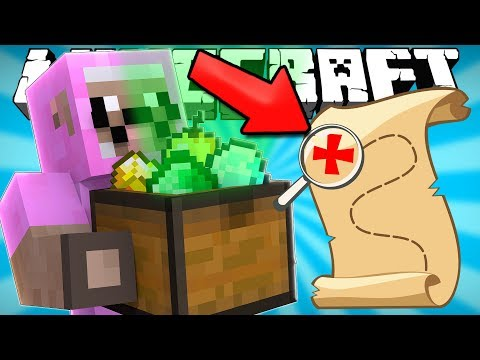FINDING THE CHRISTMAS TREASURE IN MINECRAFT!!