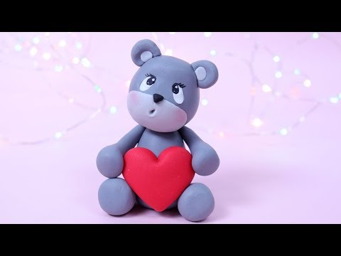 Valentine's Day Teddy Bear Tutorial! How to make fondant Teddy Bear cake topper