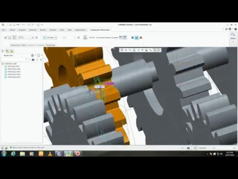 Compound Gear Mechanism by Assembly in PTC(Creo 2.0)
