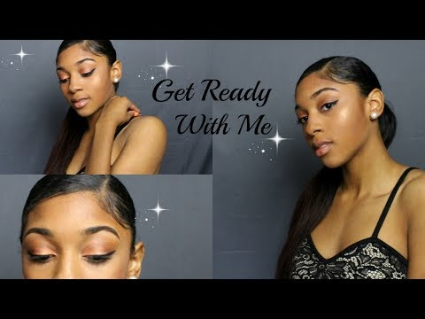 Get Ready With Me: Girls SUMMER Night Out ( Makeup, Outfit, Protective Hairstyle)