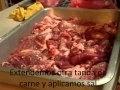 Adobando 5 kilos de carne con 500 gramos de Adobo al Pastor Llamas