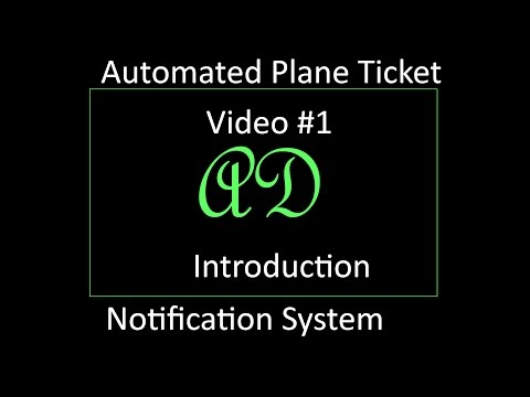Plane Ticket Price Notifier System #1 : Introduction