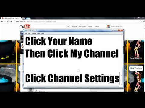 How To Change Your Youtube Name 2012 Without Making a New Youtube Account.
