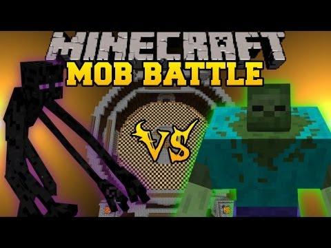 Mutant Zombie Vs Mutant Enderman - Minecraft Mob Battles - Mutant Creatures Mod