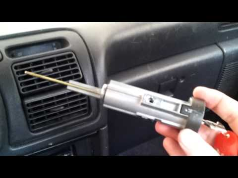 1993 Toyota Celica Ignition Cylinder Removal and Car Start without key