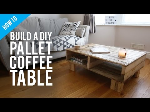 How to build a DIY rustic pallet coffee table