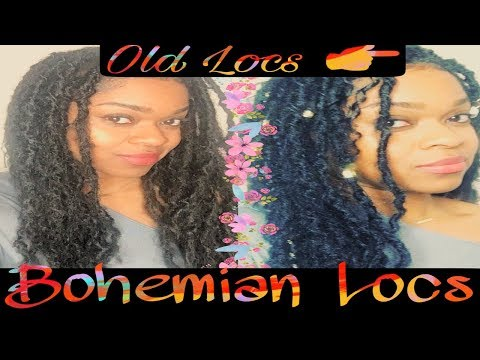 How to do: Bohemian Faux locs, Goddess Faux locs from plain Crochet locs