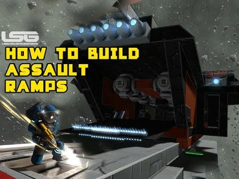 How To Build Moving Assault Ramp - Space Engineers Part 6