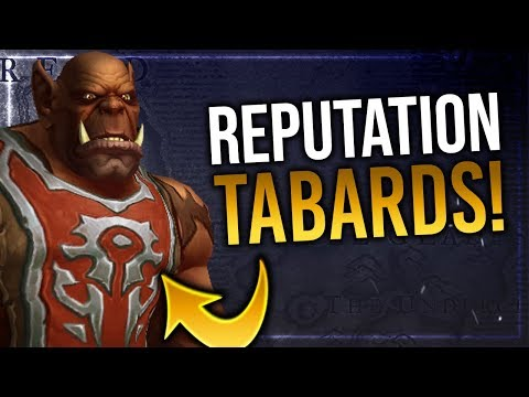 Battle for Azeroth Reputation Tabards   In-game Preview!