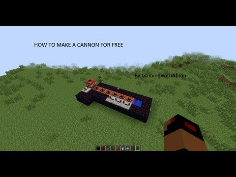 How to make a cannon in minecraft 1.6.2