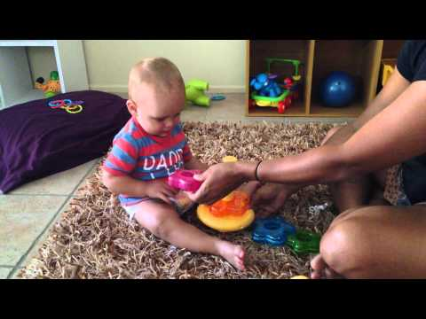Tower Stacking - Fine Motor - Infancy 0-2yrs