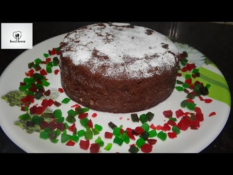 Eggless Chocolate PLUM CAKE in Microwave(non-alcoholic) | Christmas special |