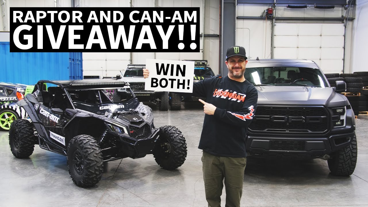 Ken Block and Omaze Want YOU to Win a Ford F-150 Raptor & Can-Am Maverick ATV!
