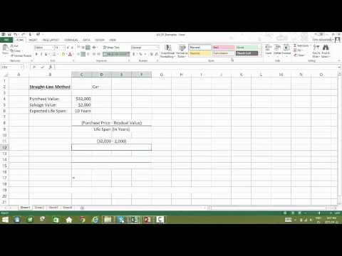 8.4a Calculating Straight-Line Depreciation