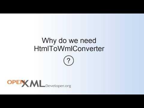 HtmlToWmlConverter Intro