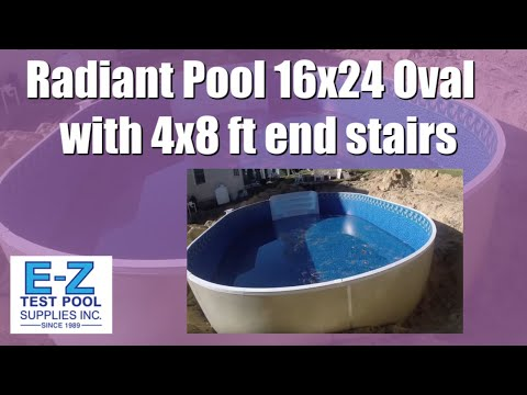 16x24 Oval Radiant Pool with 4x8 ft end stairs