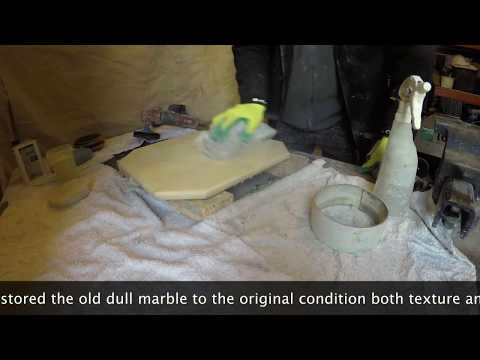 Marble table top restoration and polishing | P Mac