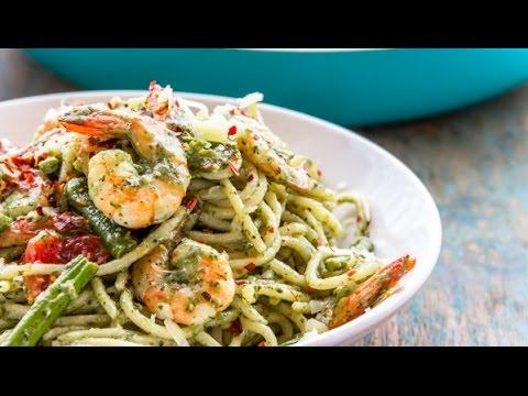 Pesto Shrimp Spaghetti | Flavor Quotient