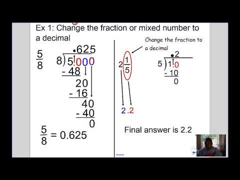 Mrs Kingsberry- Converting Fractions and Decimals