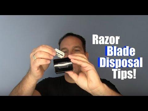 Safety Razor Blade Disposal Tips!