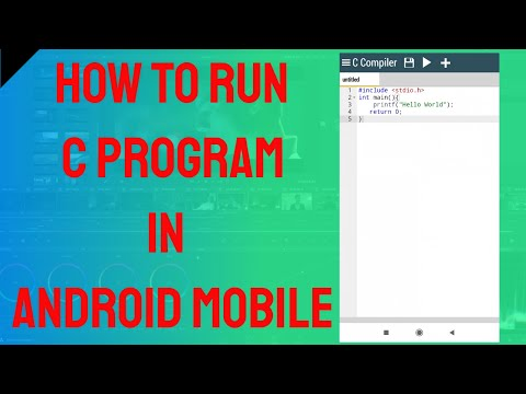 How to run C program in Android Mobile (English Version)