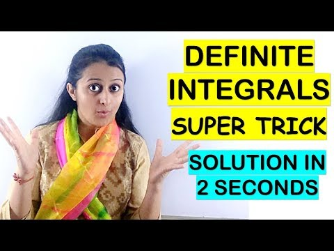INTEGRATION SHORTCUTS //DEFINITE INTEGRALS- SOLUTION IN 2 SECONDS: JEE//EAMCET//NDA
