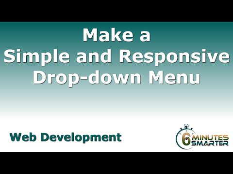 Making a Simple, Responsive Drop-down Menu