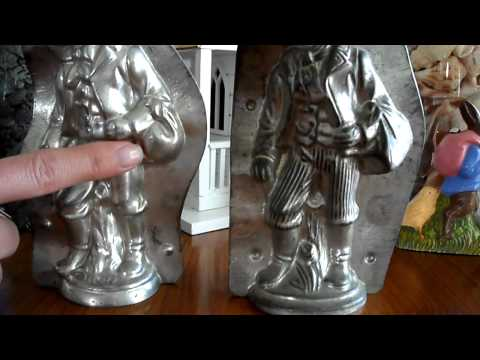 Antique Chocolate Mold Comparison of The Bavarian Easter Bunnies by Victorian Chocolate Molds