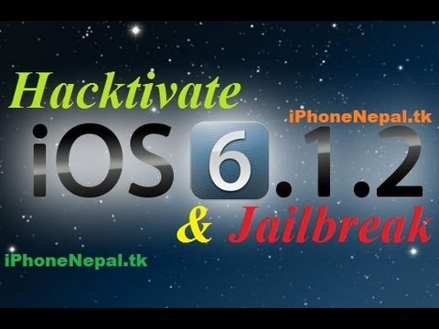 How To Jailbreak & Hacktivate iOS 6.1.2 iPhone 4/3Gs Untethered Bypass Activation Screen No Sim Card