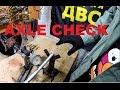 Review. Honda VTX1800 tyre change [Part2] AXLE check