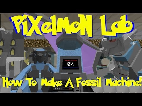 Pixelmon Lab: How To Make A Fossil Machine And Recover Fossils! (Minecraft Pokemon Mod)