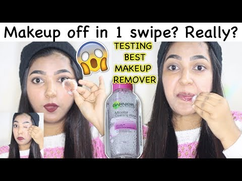 REMOVING MAKEUP IN ONE SWIPE? Garnier Micellar Water First Impressions